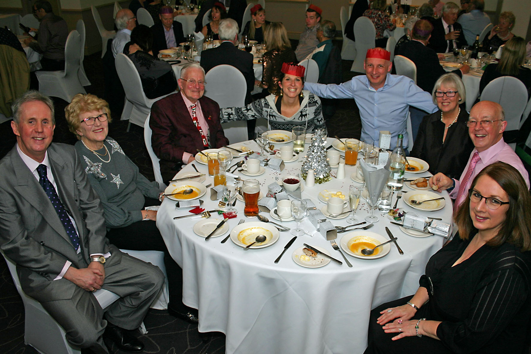 Members and guests at Xmas party